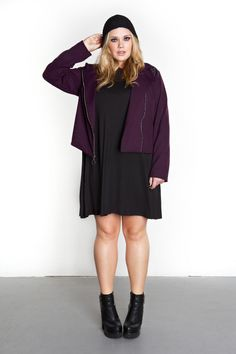 Domino Dollhouse - Plus Size Clothing: Blade Jacket in Amethyst