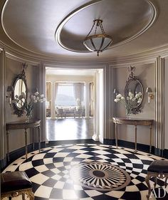 Entry - Intricate geometric entry with Neoclassical style | Architectural Digest... via stellarsky...