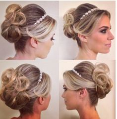 Make and Hair by Jr Mendes Bride Hairstyles, Headband Hairstyles, Pretty Hairstyles, Wedding Hair And Makeup, Bridal Hair, Hair Makeup, Wedding Braids, Hairstyle Wedding, Hair Shows