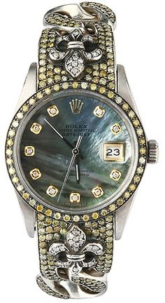 Gorgeous vintage Rolex watch iced by Loree Rodkin