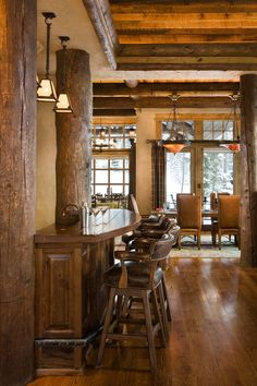 I like the addition of the beams for this bar