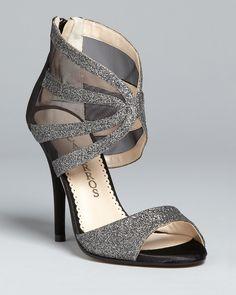 Caparros Peep Toe Evening Sandals - Dalton High Heel | Bloomingdale's