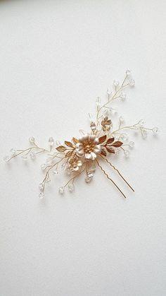 Perno de pelo pelo de cristal oro grande Pin, Pin de pelo nupcial, boda oro
