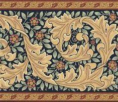 frieze william morris wallpaper borders - Google Search William Morris Wallpaper, William Morris Art, Morris Wallpapers, Victorian Design, Victorian Art, Victorian Interiors, Art Floral, Art Nouveau Wallpaper, Chevron Borders