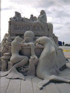 Sand Bar 2 by Sanding Ovations of Treasure Island, FL. Snow Sculptures, Sculpture Art, Ephemeral Art, Madeira Beach, Ice Art, Sand Crafts, Photography Illustration, Outdoor Sculpture, Sand Art