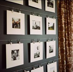 Mooie manier om foto's op te hangen.