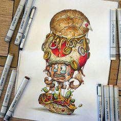 "Tag a Super Mario Fan  ""Super Mario Burger : Crunchy Toad"" [teeshirts, mugs and original drawing available on my shops) #copic #copicart #copicmarkers #legendary #supermario #retrogaming #nintendo #switch #nintendoswitch #gameboy #nintendoart #supermarioart #burger #cheeseburger #veganfood #veganmeme #sandwish #markerdrawing #topdrawing #mindblow    #Regram via @tino_copic"