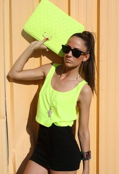 Love 80´s  , Marc By Marc Jacobs in Clutches, Ray Ban in Glasses / Sunglasses, American Apparel in T Shirts