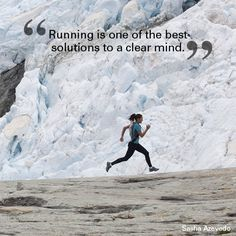 """Running is one of the best solutions to a clear mind."" Sasha Azevedo #quote #motivational #travel"