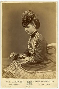 "thehystericalsociety: "" Queen Alexandra - W & D. Downey, Newcastle-Upon-Tyne, England - c. 1870s - (Via) """