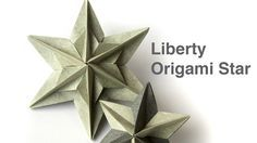 Tutorial how to make Liberty modular origami star. Spectacular origami star f… Tutorial how to make Liberty modular origami star. Spectacular origami star from 6 squares of paper.me/ This star is dedicated to all who… Mode Origami, Origami Diy, Design Origami, Origami Simple, Origami Modular, Origami And Kirigami, How To Make Origami, Origami Folding, Useful Origami