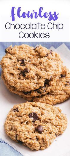 Flourless Chocolate Chip Cookies - soft