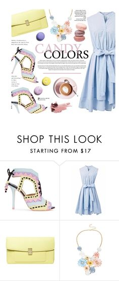 """""""Candy Colors"""" by federica-m ❤ liked on Polyvore featuring Sophia Webster, Chicwish, Dorothy Perkins, Mixit, Spring, pastel and sophiawebster"""