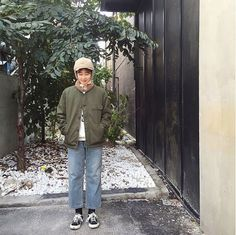 @bbongoori from Manhattans Store in Korea wearing our N1 deck jacket