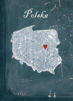 Poland Polska Art print Polska Map Polska Wall by MyHomeDeco, $14.00