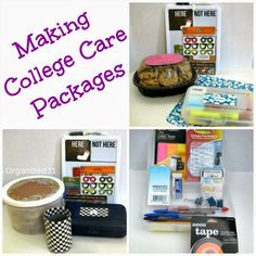 Fun ideas for making a college care package.