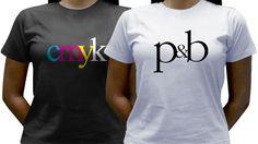 Camiseta CMYK ou PB - Baby-look
