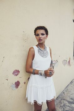 White dress....summer is soon here #fashion     yes this will be another