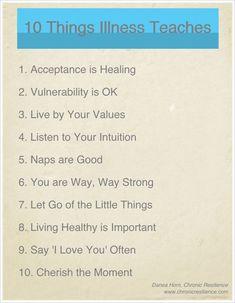 10 Things Illness Teaches