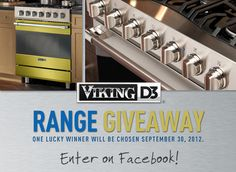 We're giving away a #VikingD3 range on Facebook in your choice of color and fuel!  Enter today!