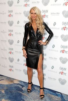 Celia Sawyer Photos - Celia Sawyer arriving at the Chain Of Hope Gala Ball held at Grosvenor House, on November 2017 in London, England. - Chain of Hope Gala Ball - Red Carpet Arrivals Holly Willoughby Legs, Black Leather Dresses, Leather Skirts, Leather Leggings, American Dress, Beautiful Dresses For Women, Leder Outfits, Curvy Fashion, Petite Fashion