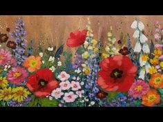 Paint Cotton Swab FLOWERS with Acrylics   Easy Step by Step LIVE Painting Tutorial for Beginners - YouTube #AcrylicIdeas