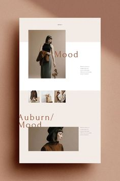 The Auburn Brand Sheets are a series of 24 individually designed branding template sheets designed in both Adobe Photoshop and Adobe Indesign. Also known as Brand 'One Sheet' or Style Sheet, the brand sheets are a. Layout Design, Web Layout, Page Design, Design Web, Vector Design, Website Design Inspiration, Graphic Design Inspiration, Fashion Website Design, Corporate Design