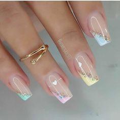 Fancy Nails Designs, Nail Designs, Bling Nails, Nail Artist, Jelsa, Natural Nails, Beauty Nails, Cute Nails, Gel Nails