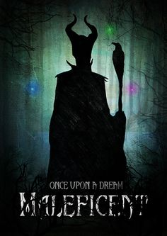 Maleficent Poster Watercolour Illustration by MichaelJIllustration