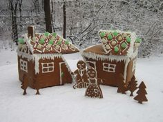 """Team members: Matthew Keeshin, David Keeshin, and Bonnie Katz What they said: """"No fighting, no snacking, a family of artists who love to bake created this original and playful reinterpretation of the holiday icon."""" Why we love it: A tribute to one of our favorite installation artists, who sliced, diced, and cut open abandoned buildings during the 1970s."""
