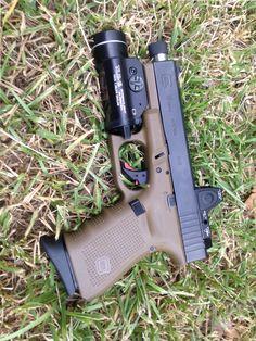 Glock 19 gen4, Trijicon rmr06, Tlr-1,threaded barrel, suppressor sights, full zev fulcrum trigger and internals.