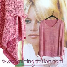 The Knitting Station provides Designer Knitting Patterns and Information Knitting Yarn, Knitting Patterns, Bardot Top, Soft And Gentle, Double Knitting, Needles Sizes, Femininity, Workout Tops, V Neck