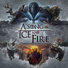 """A Song of Ice and Fire"" logo (with ""Game of Thrones"" style)  by ertacaltinoz"