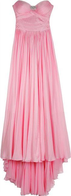 Jenny Packham's pink silk strapless dress