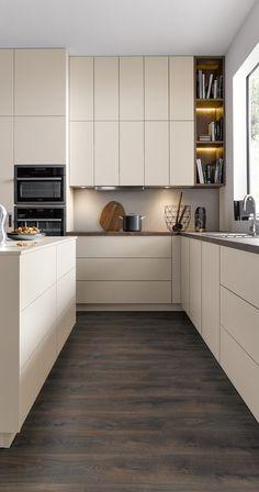 Ikea Kitchen Design, Modern Kitchen Design, Home Decor Kitchen, Interior Design Kitchen, New Kitchen, Home Kitchens, Beige Kitchen, Minimal Kitchen, Küchen Design