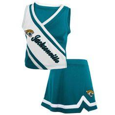 Jacksonville Jaguars Girls Toddler 2-Piece Cheerleader Set - Teal - $33.99