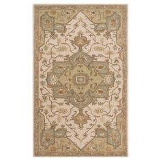 "Demetrios Area Rug - Khaki (Green), Medium Gray - (7'6"" x 9'6"") - Surya"