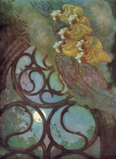 Edmund Dulac - Edgar Alan Poe poems -City in the sea