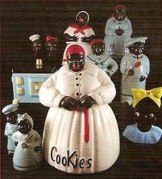 Black Memorabilia,Black Salt & Peppers, Cookie Jars