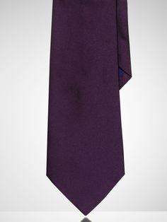 Solid Silk Tie - Purple Label US/Purple_Label/Men/Ties - RalphLauren.com
