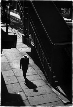 William Gedney - Man on sidewalk with shadow, 1960 From Brooklyn Series