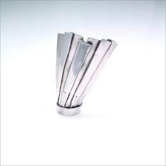 Kiel Mead silver pleat ring.