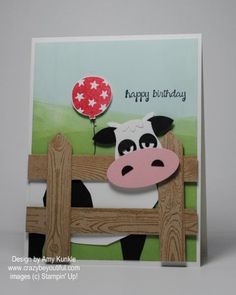 Punch art cow for FM197 by amykunkle - Cards and Paper Crafts at Splitcoaststampers