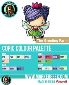 The Daily Marker 30 Day Colouring Challenge 2 - The Greeting Farm Fairy Queen Anya Copic Colour Palette www.markergeek.com