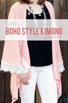 Simple DIY BOHO Style Kimono   via Make It and Love It