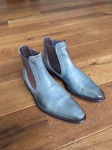 Floris van Bommel 10564 light blue chelsea boots size 6,5 | eBay