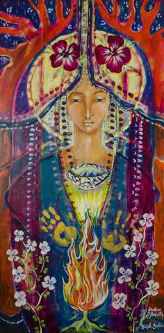 Shekinnah Painting - Invoking Shekinah by Shiloh Sophia McCloud