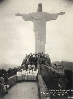 Augusto Malta. Visita de estudantes ao Cristo Redentor, 1931. Rio de Janeiro, RJ / Acervo IM
