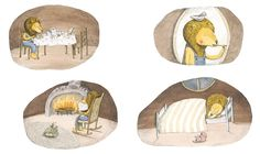 Illustrations by Marianne Dubuc – from 'Le Lion et l'oiseau / The Lion and the Bird'