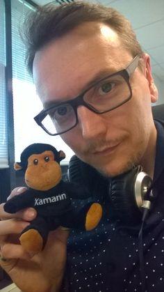 Xamarin monkey visiting Mentalworks agency in Compiègne (France) Photo by Sébastien Mouligneaux